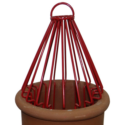 Decorative Chimney Birdguard - Red
