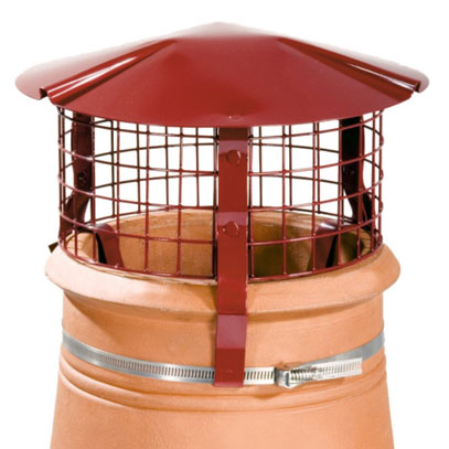 Brewer Birdguard - Aluminium - Solid Fuel - Terracotta