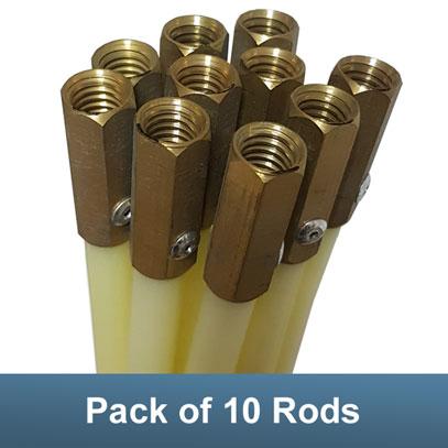 Chimney Sweeping Rod Flexible Nylon 1 Metre