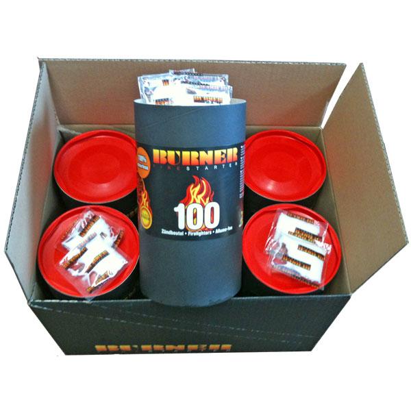 Burner Firelighters Firestarters Box Of 6 Barrel Of 100