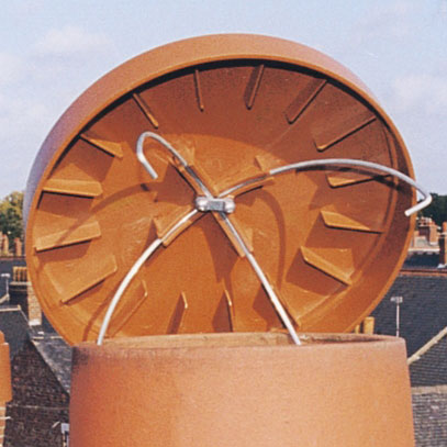 C Cap 350 Disused Chimney Cowl Cap Terracotta