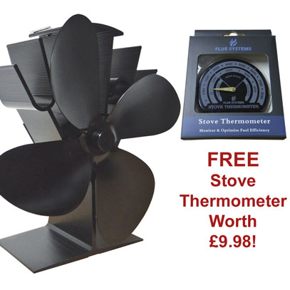Eco 4 Heat Powered Stove Fan