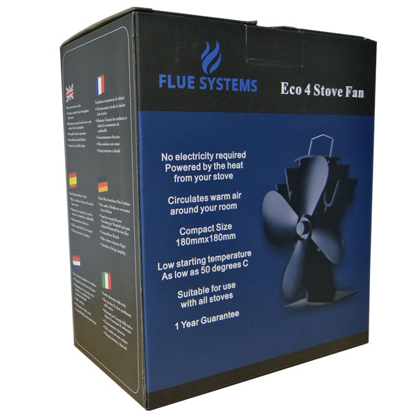 Eco 4 Stove Fan from fluesystems