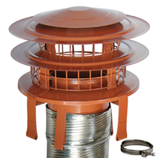 Chimney Liner Cowl Anti Downdraught Stainless Steel