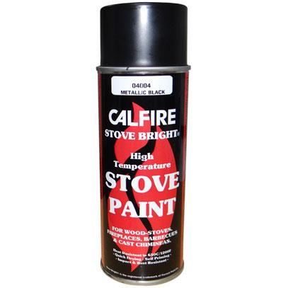 Stovebright High Temperature Paint Metallic Black