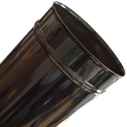Stove Pipe 100mm Gloss Black Rosette